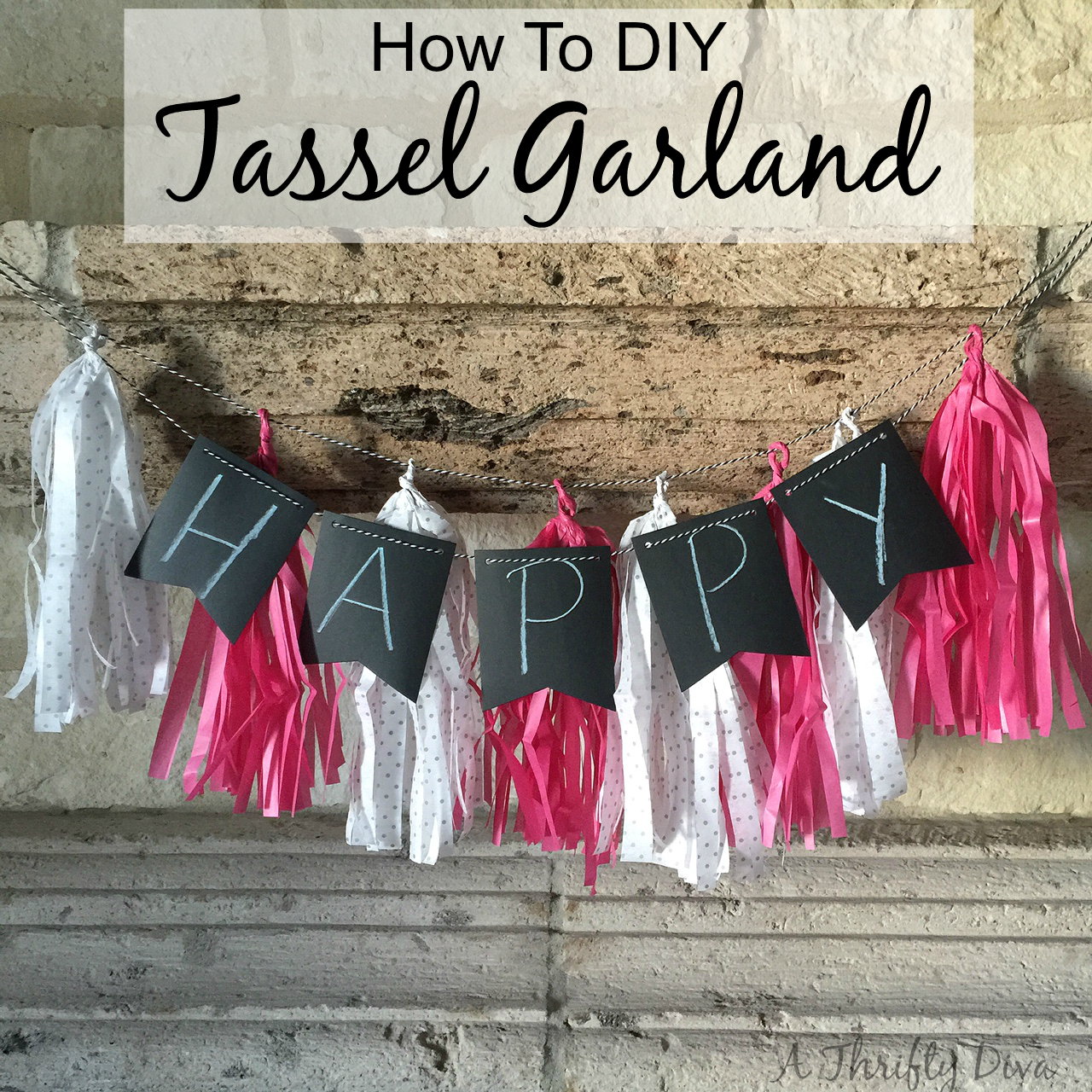 how to diy tassel garland