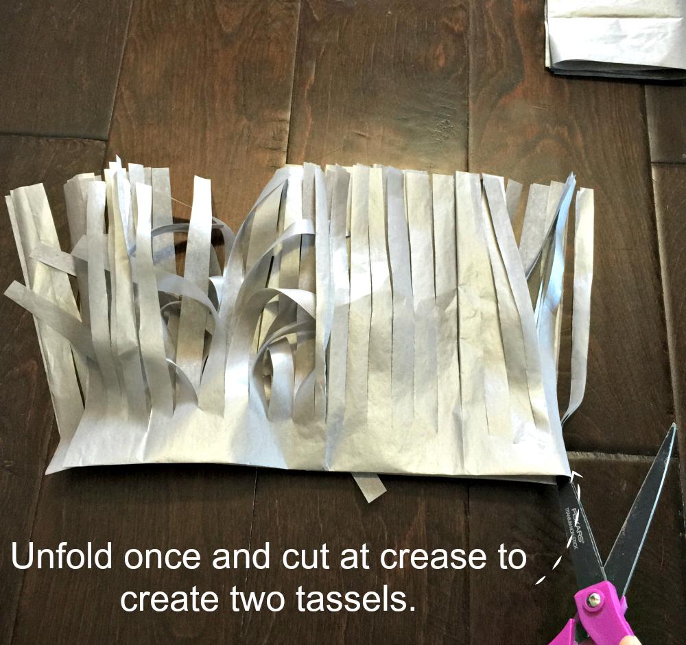 unfold once tassel garland