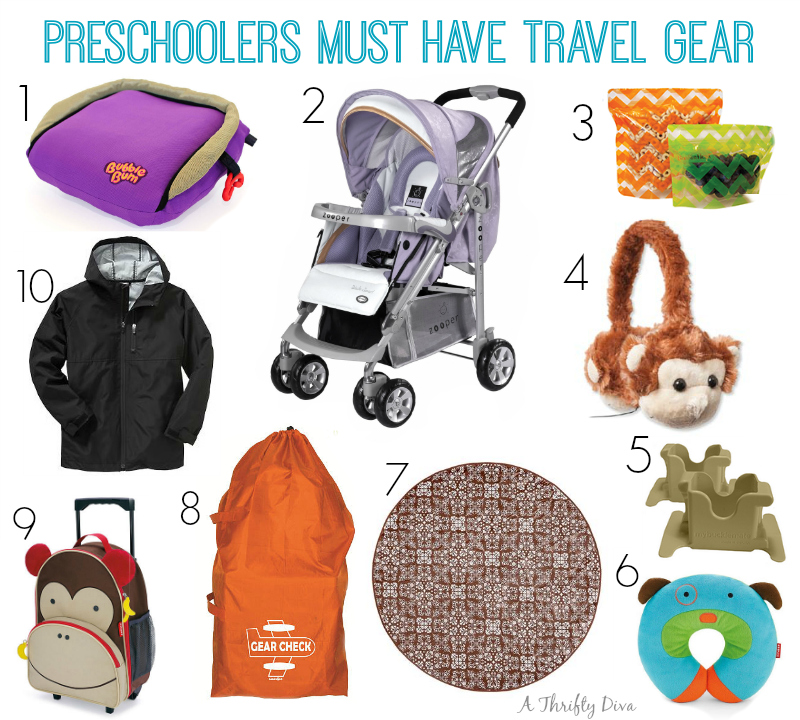 preschoolers must have travel gear