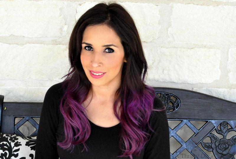 michelle purple hair