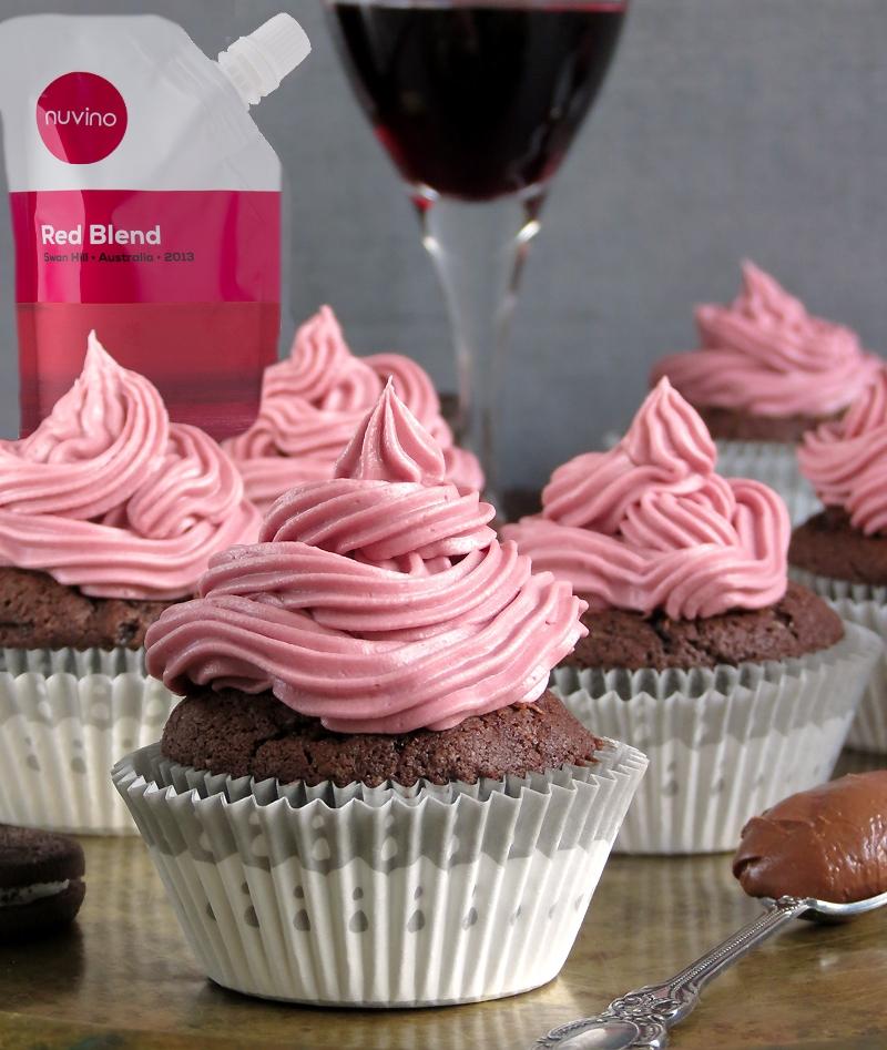 Oreo-Nutella-Red-Wine-Cupcakes