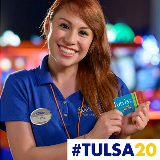 #Tulsa20 20th location opening in Tulsa, Oklahoma with a social media contest and chance for Main Event
