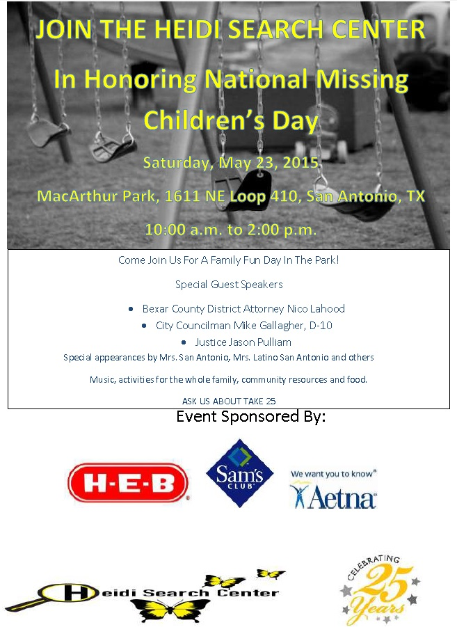 National Missing Children's Day 2015