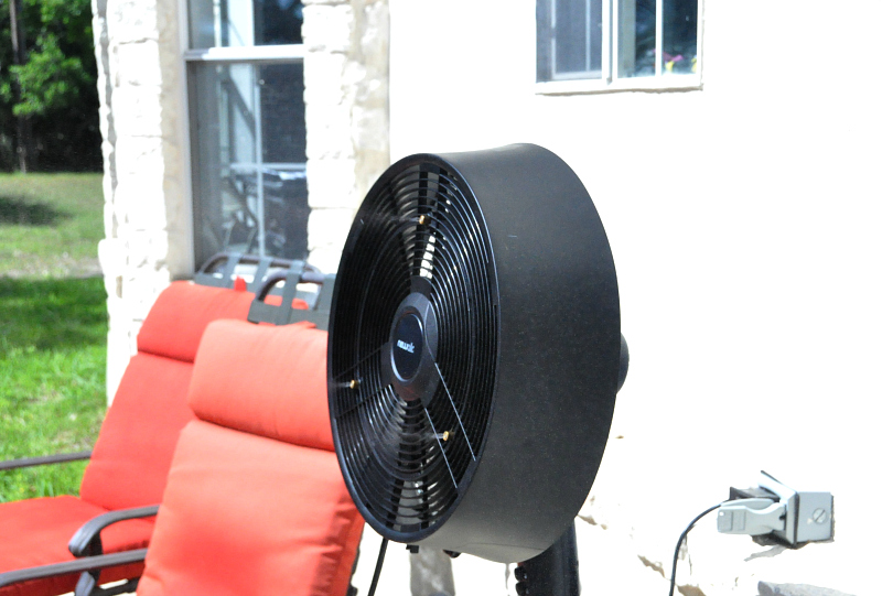 NewAir AF-520B Outdoor Misting Fan Review #springfun