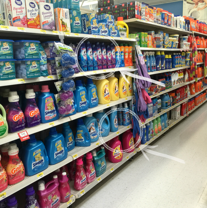 and Suavitel liquid Fabric Conditioner laundry aisle