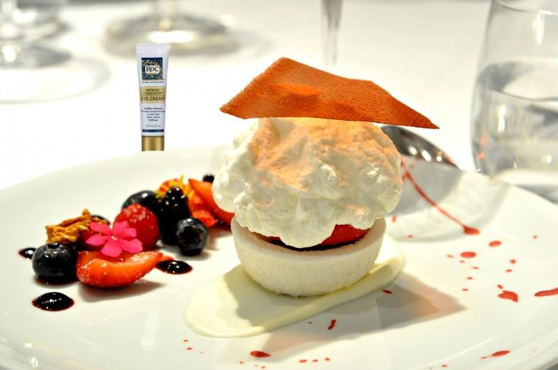 pairing dessert and RoC Skincare eye cream
