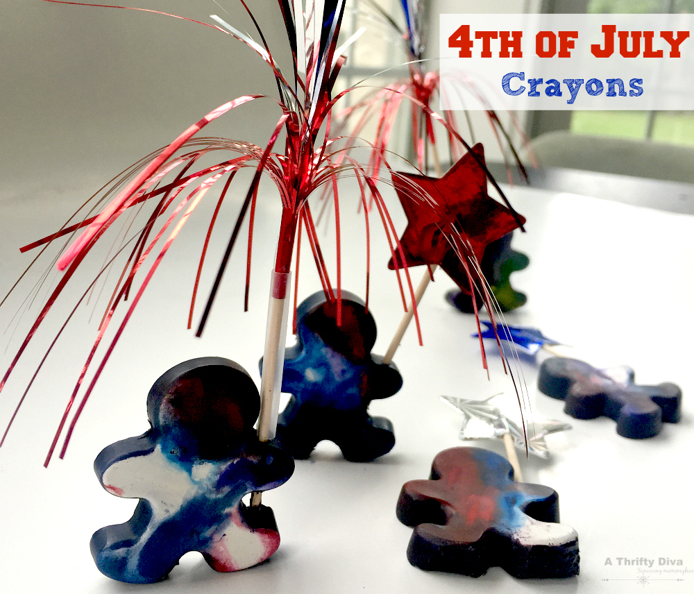 4th of July Crayon mold people