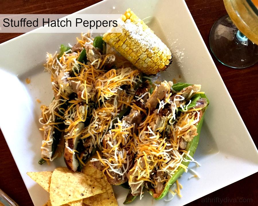 stuffed hatch peppers plate