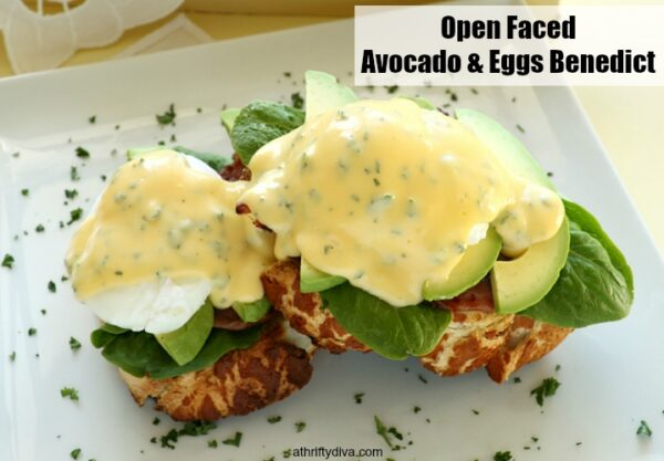 Open Faced Avocado & Eggs Benedict
