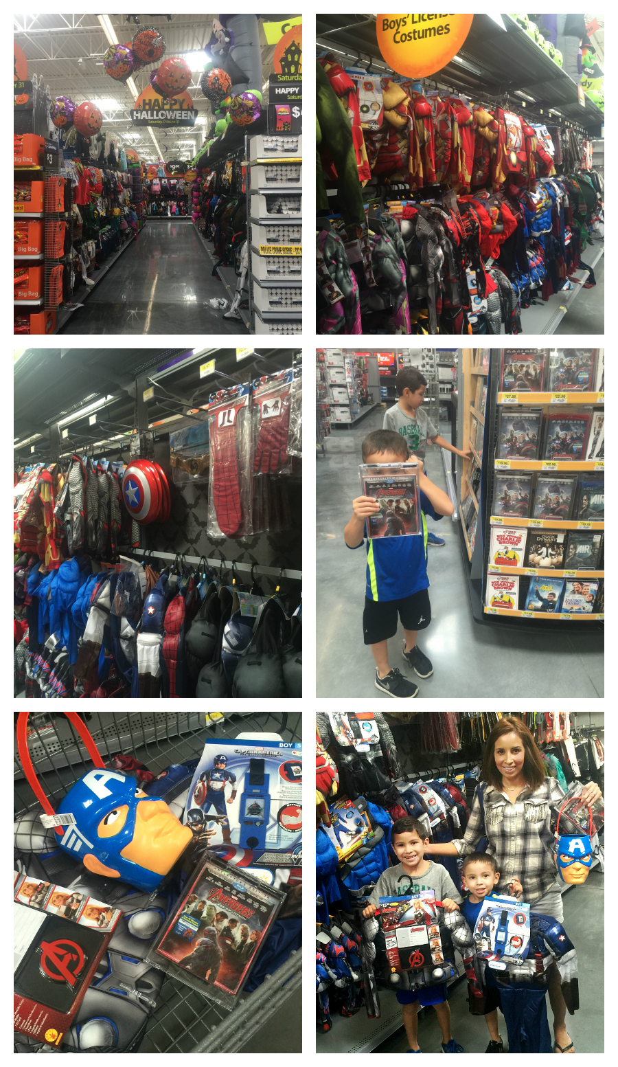 Collage Avengers Age of Ultron at Walmart