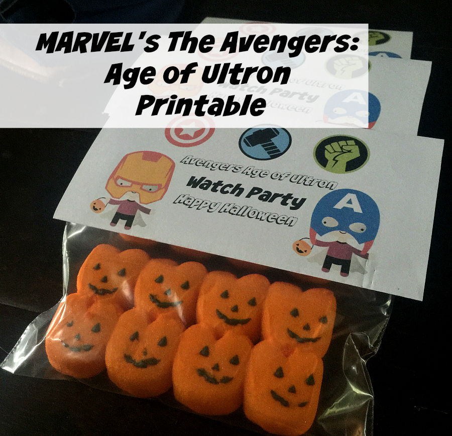 MARVEL's The Avengers Age of Ultron Watch Party Printable Topper