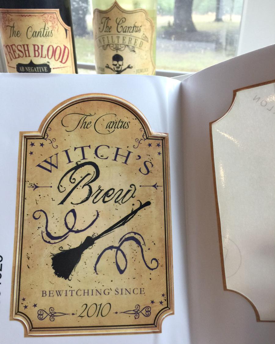 Personalization Mall Unique Halloween wine labels