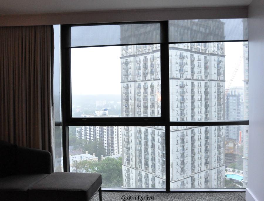 W hotel window view midtown atlanta