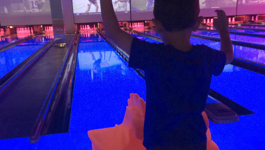family bowling at main event