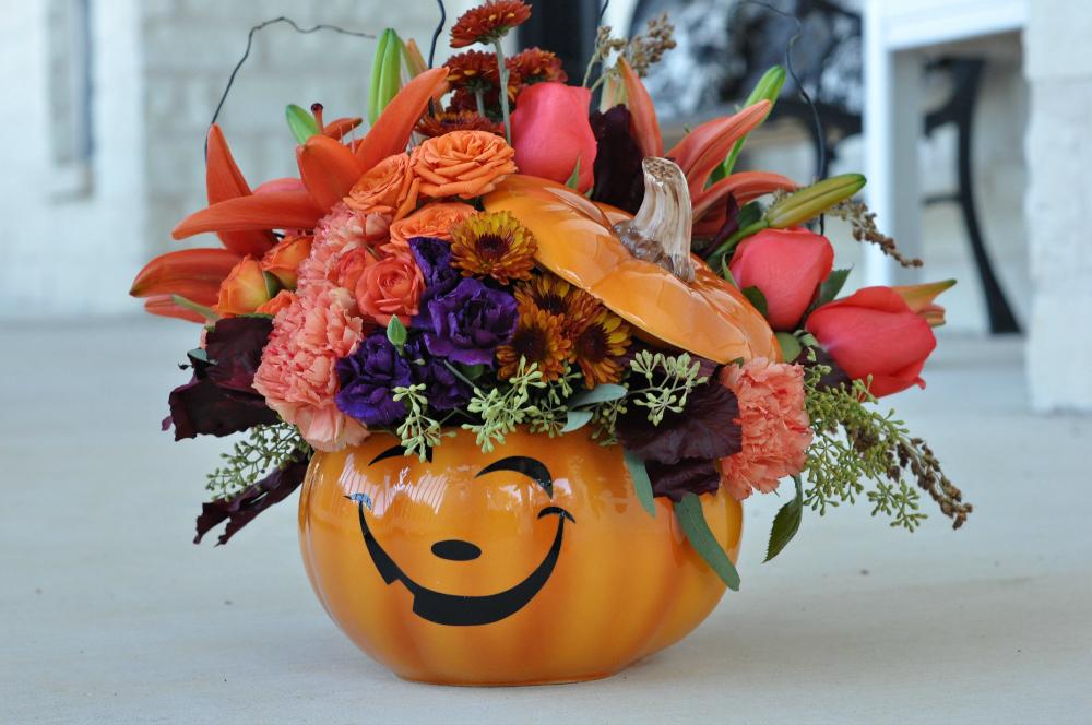pumpkin teleflora flowers