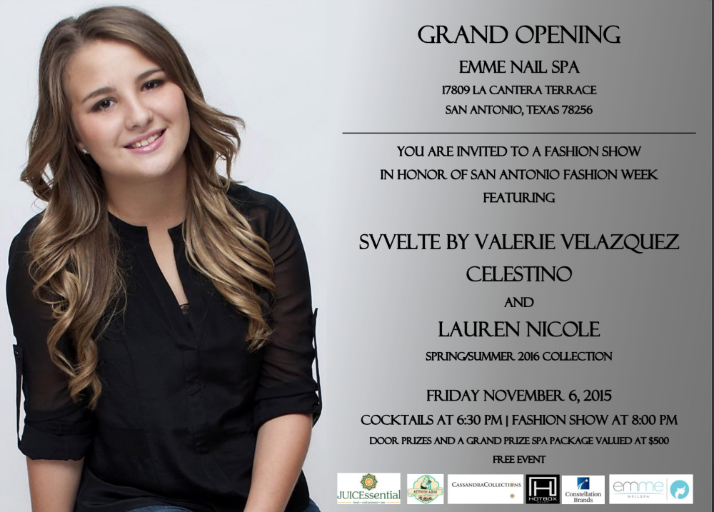 Lauren Nicole fashion show at Emme nail spa for fashion week
