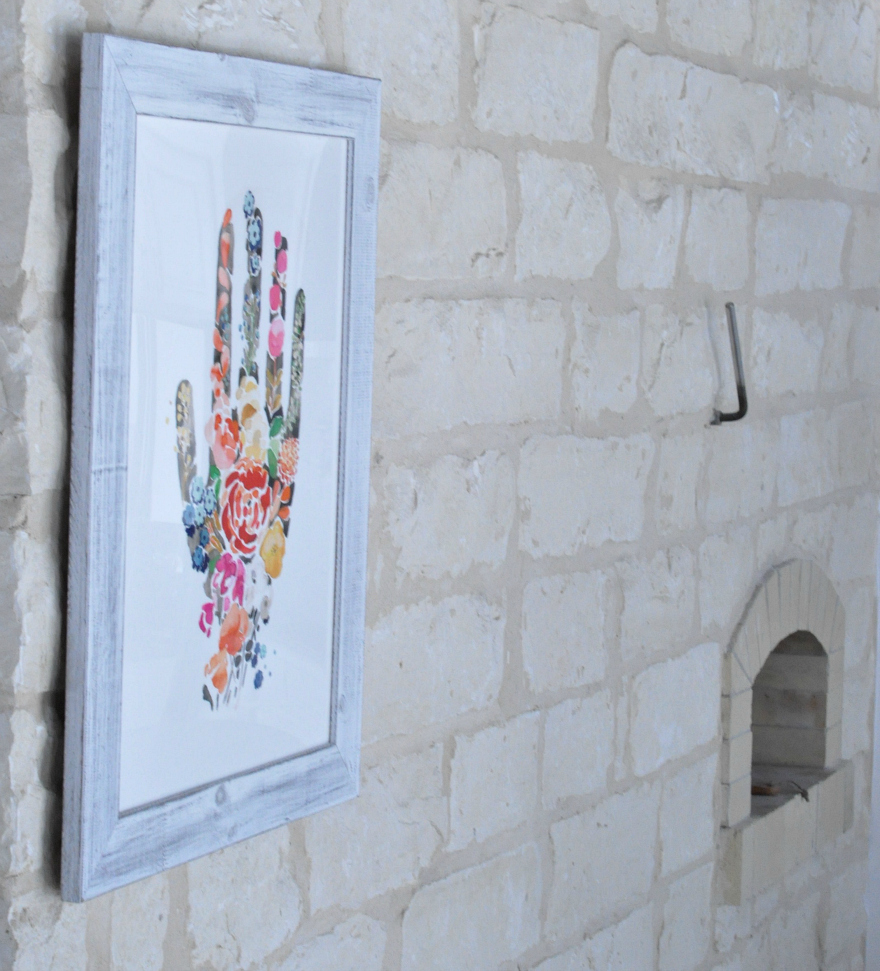 Minted Art on pizza oven wall