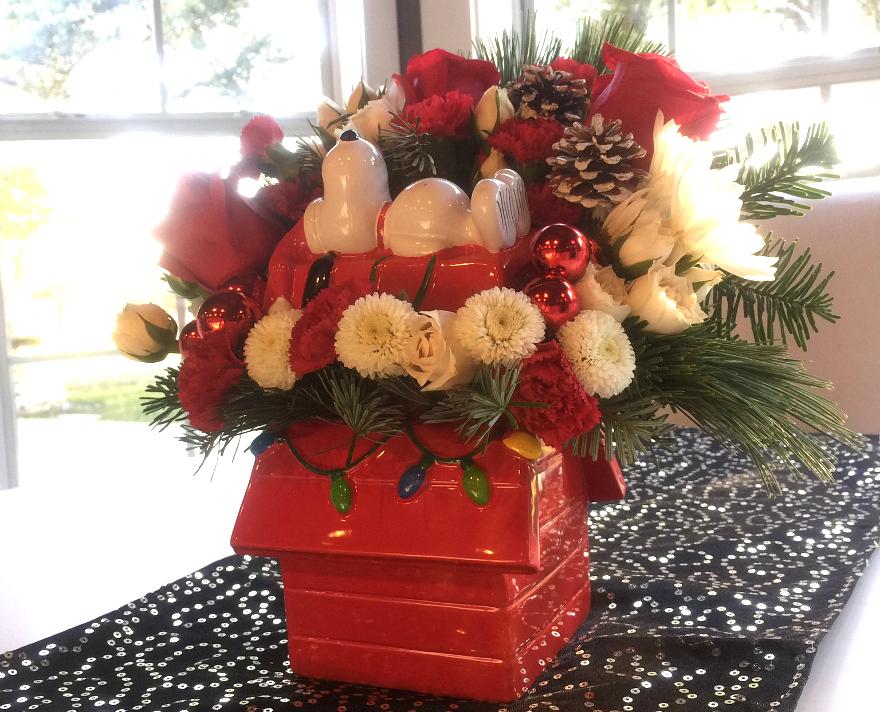 eanuts Christmas Bouquets #Teleflora