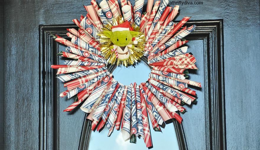 diy yoda star wars wreath