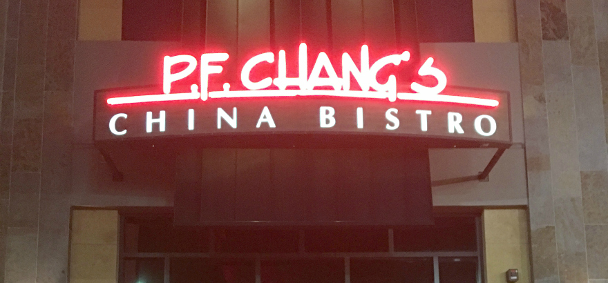 p.f. changs china bistro sign