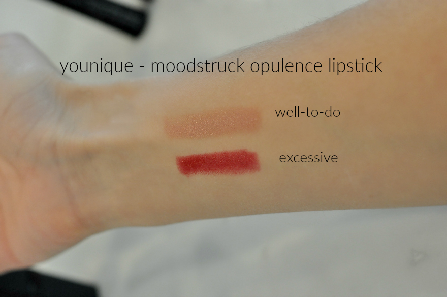 younique - moodstruck opulence lipstick swatches