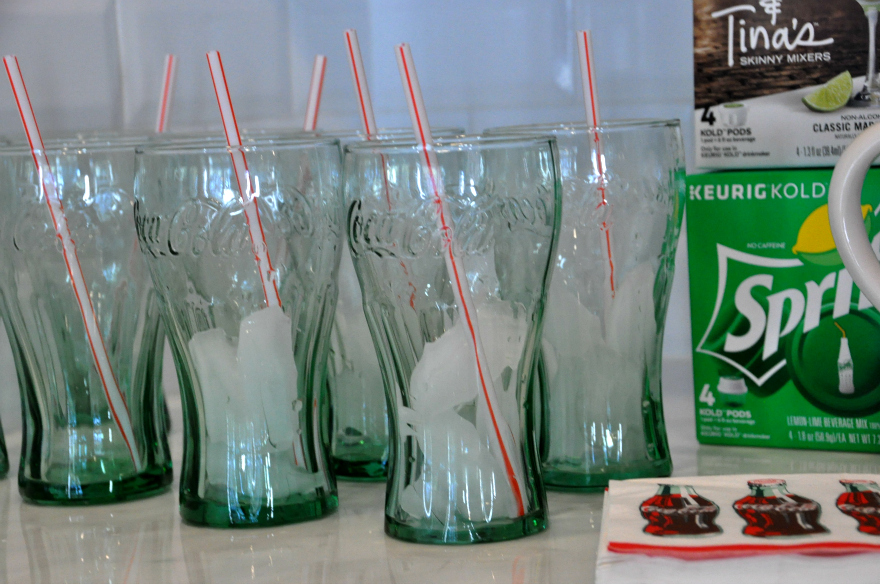 Coca-Cola cups for drinking our favorite KeurigKOLD drinks The New KEURIG KOLD