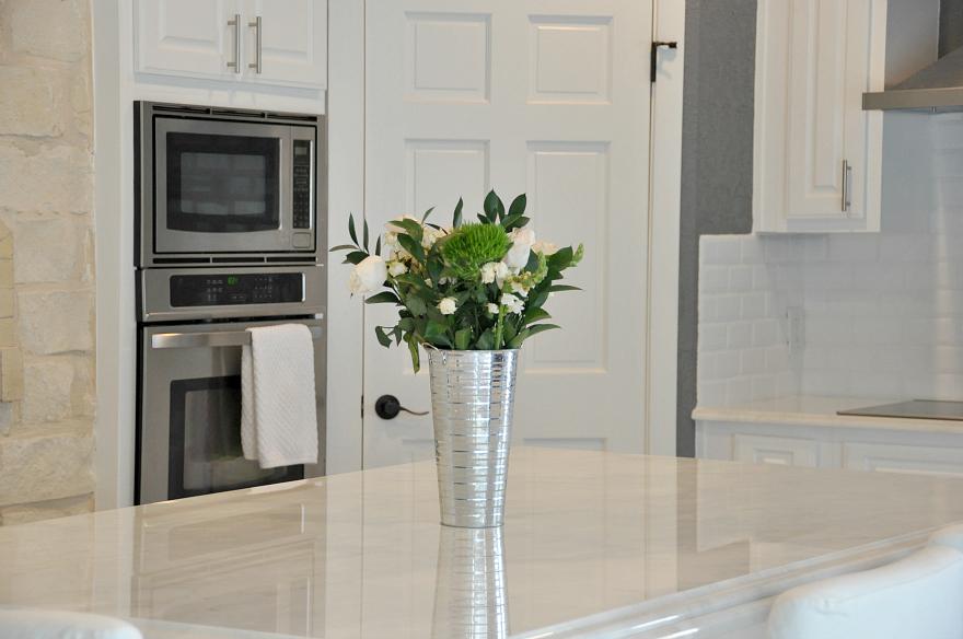 flowers in kitchen #FRESHBEGINNINGS