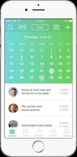 Flayk Family Management app calendar