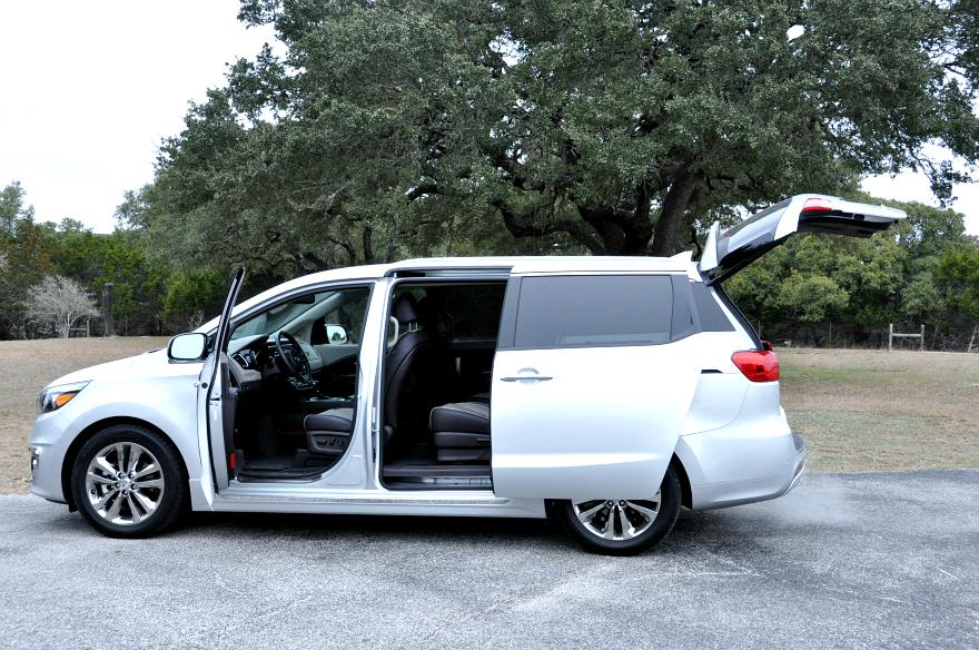Kia Sedona  dual power-sliding doors