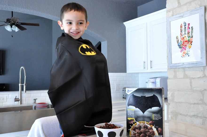 super hero allegiance with the new Batman Chocolate Strawberry Cereal