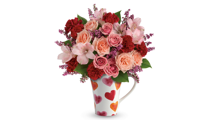teleflora lovely hearts bouquet Valentine's Day with Teleflora & Love Notes Concierge