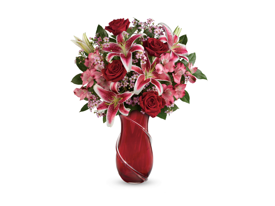 teleflora wrapped with passion bouquet Valentine's Day with Teleflora & Love Notes Concierge