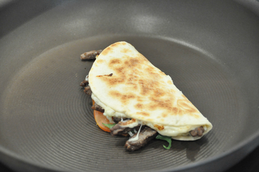 toast carne asada cacique manchego cheese quesadilla