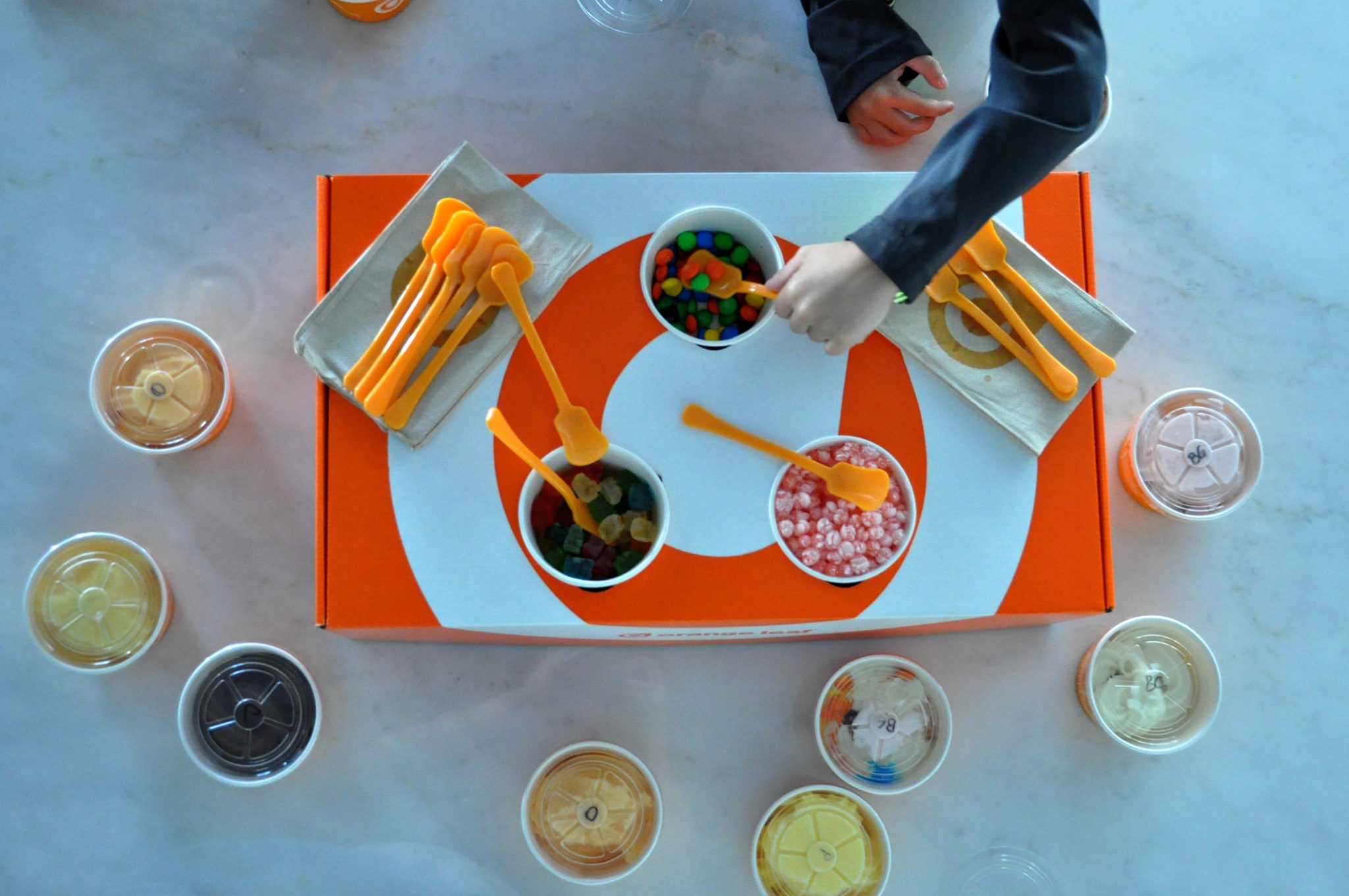 Orange Leaf Pop Up Party Box toppings