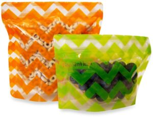 BOOGINHEAD PACK'EMS 2-PACK REUSABLE SNACK BAGS for kids carry on
