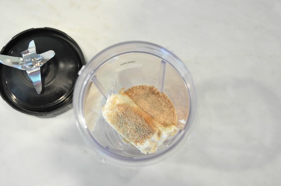 Dia del niño! Sweet Plantain Quesadilla Recipe #ConMasSabor step one mix cream cheese