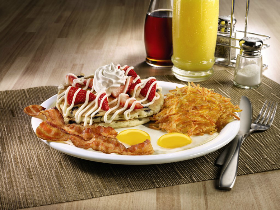 RWB Pancake Slam: Dennys New Limited-Time Menu Red, White and Bacon
