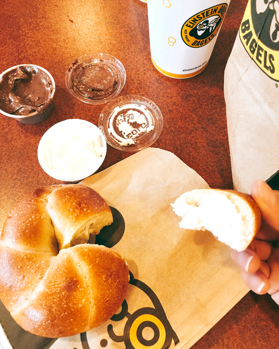 The Twist N' Dip bagel has arrived toEinstein Bros. Bagels for a limited time.
