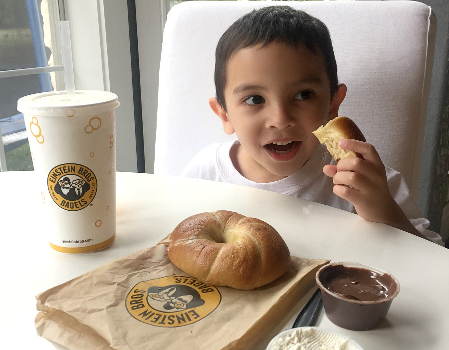 Einstein Bros. Bagels Twist N' Dip bagel for summer fun