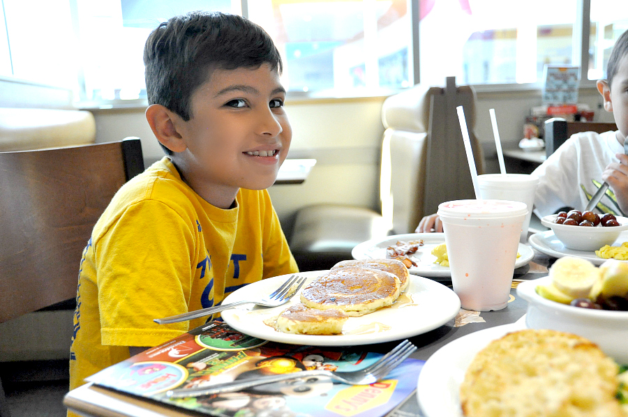 Enjoy Kids eat free at Denny's with breakfast for dinner