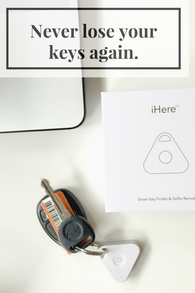 No More Where are my Keys, Phone and Car with the iHere 3.0 Key Finder