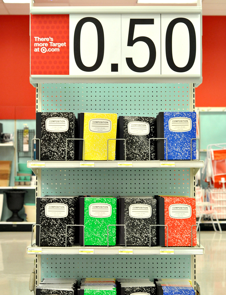 Back To School Necessities at Target Composition Notebooks