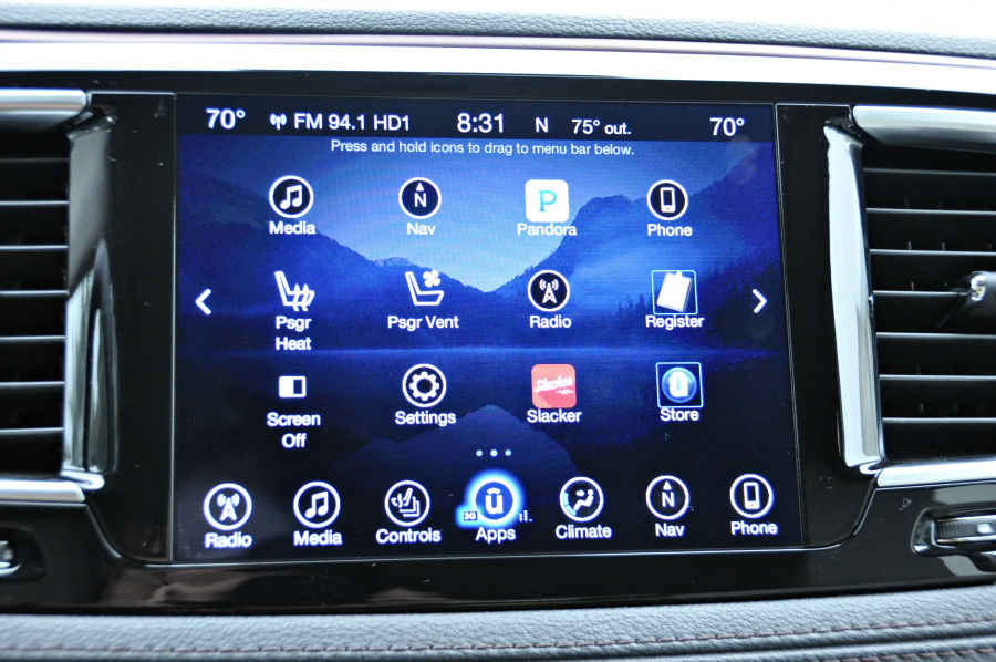 Screen on Chrysler Pacifica 2017 Review #Pacifica #DriveShop