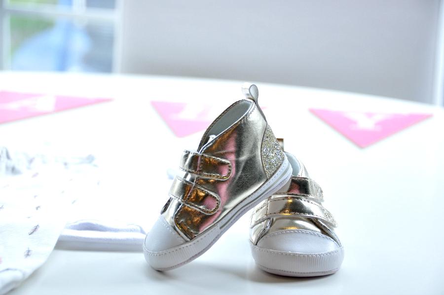 Carter's Metallic High Top Crib Shoes