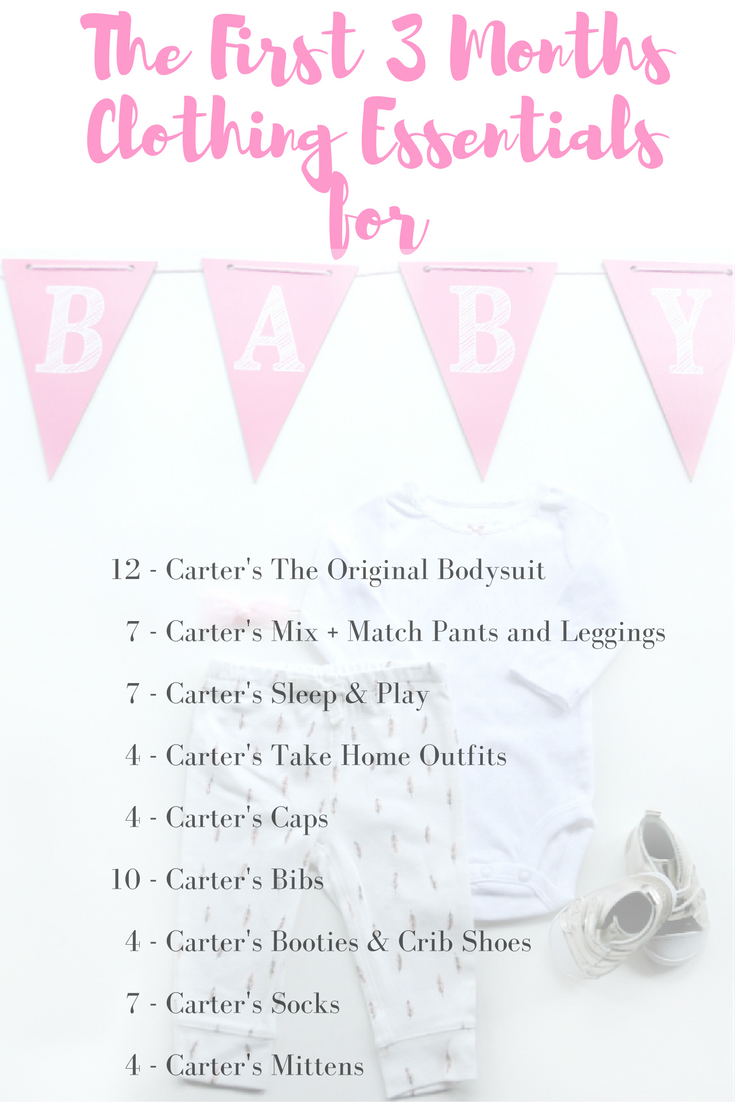 The first 3 months clothing essentials for baby Carter's