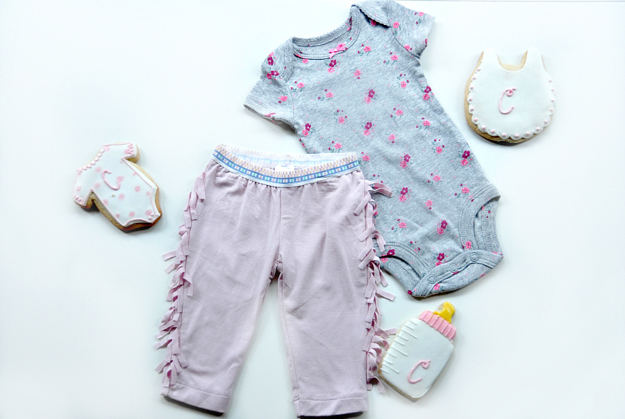 Fringe Pants and Baby Clothing Checklist + Carter's Original Bodysuit outfit