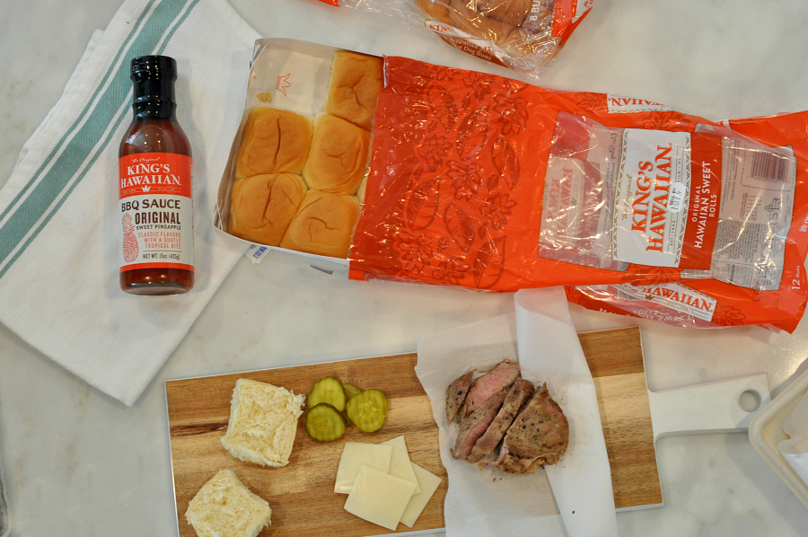 HEB Game Time Grilling Pork Steak King's Hawaiian Slider simple ingredients