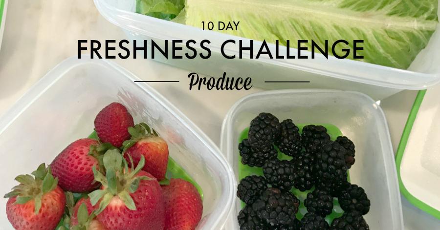 10 day freshness challenge Rubbermaid FreshWorks Produce Saver #FreshWorksFreshness