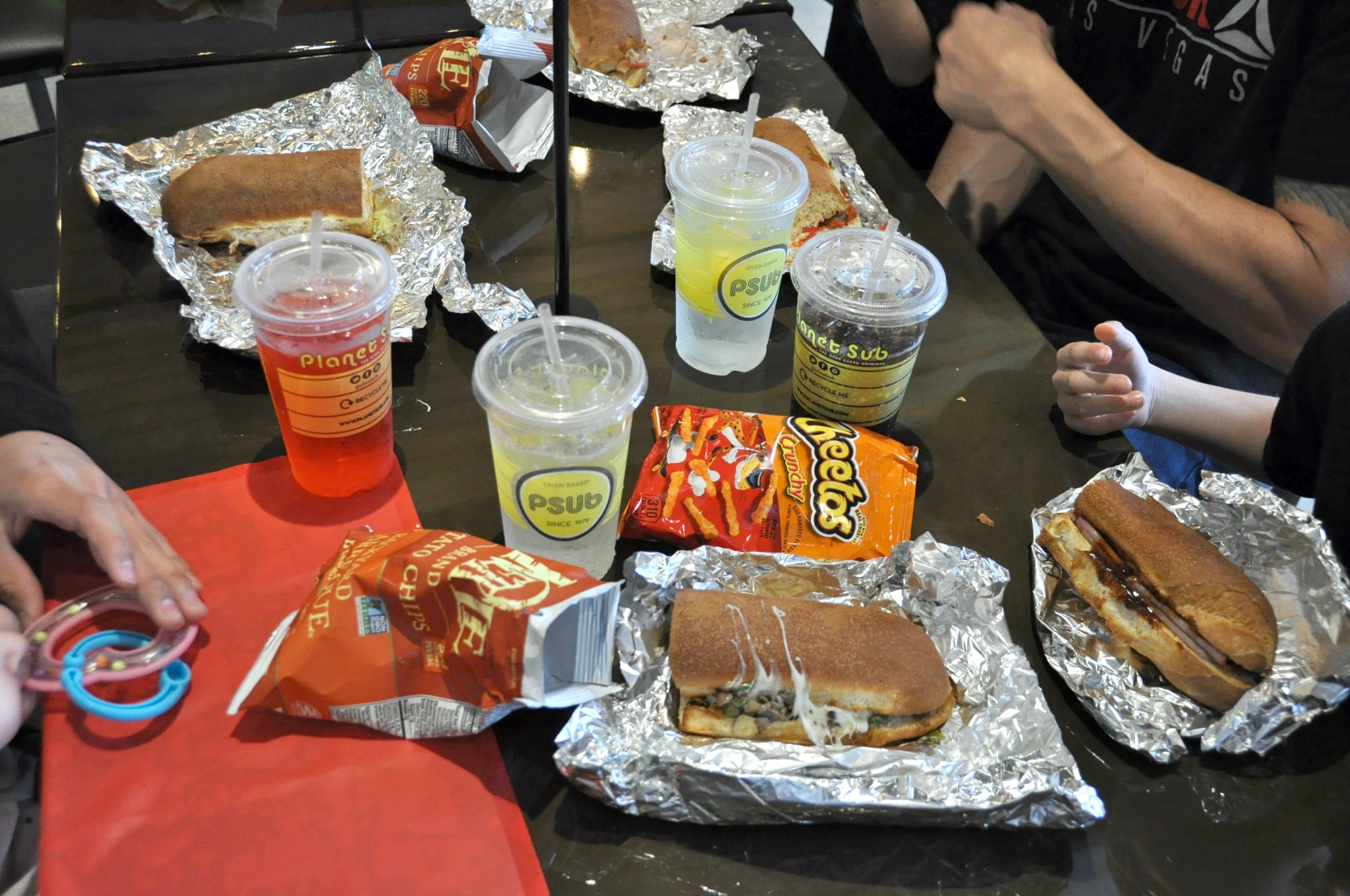Lunch at planet sub