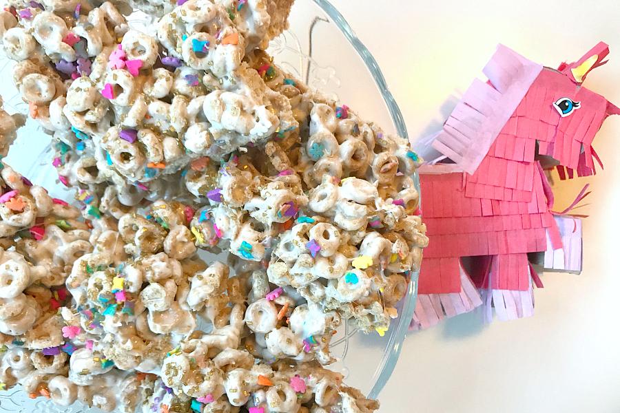 Unicorn Snacks Día del Niño Cereal con Cariño Cheerios Treats